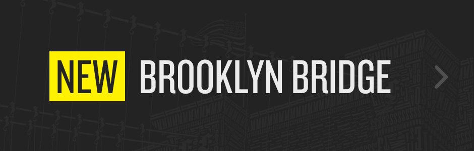 New! Brooklyn Bridge in letterpress type